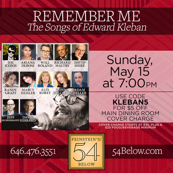 The Songs of Edward Kleban 54 Below
